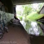 Unter der Eisenbahnbrücke bei Karow