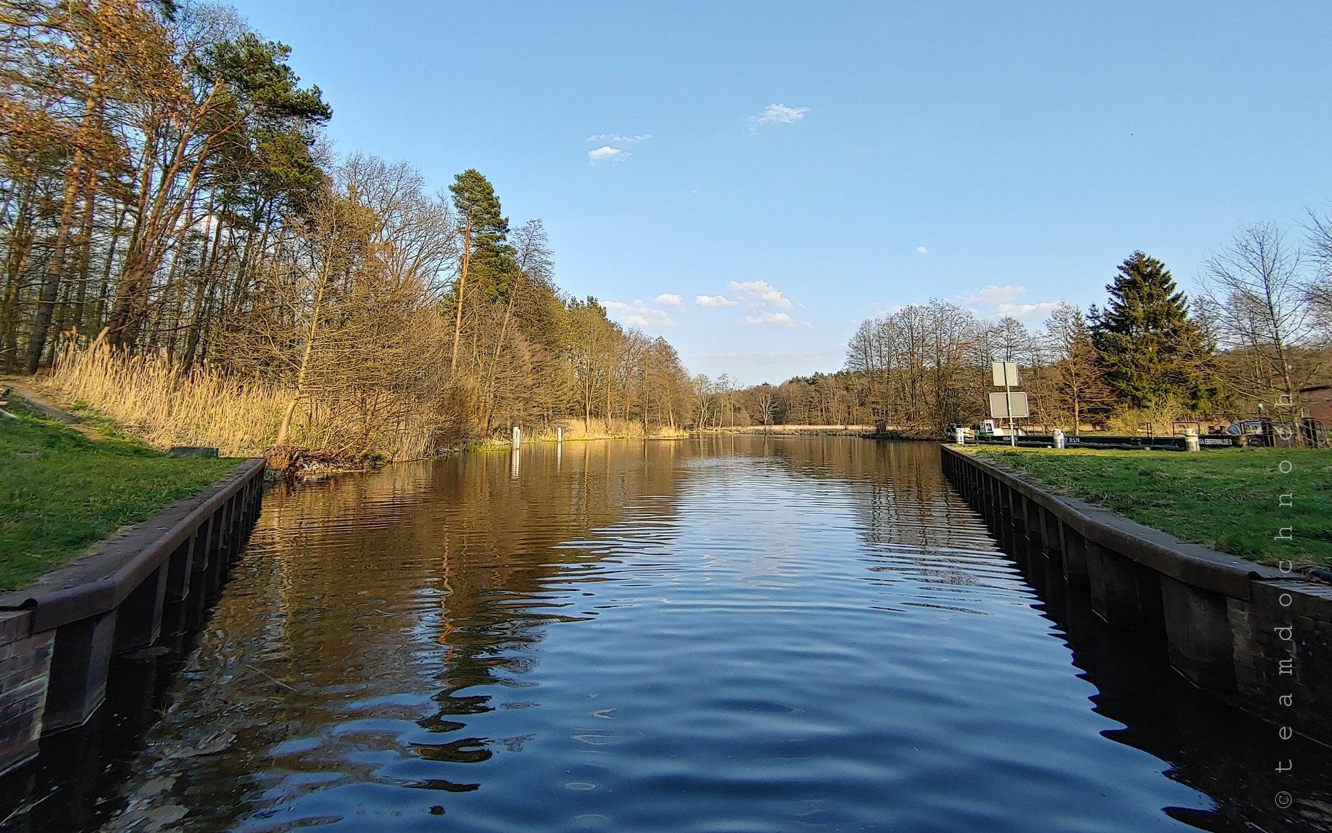 Schleuse Grafenbrück, unterer Vorhafen